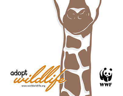 Giraffe WWF Poster