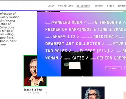 Web Redesign / Walker Art Center