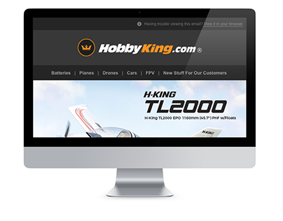 HobbyKing Planes Sale Email Newsletter Design