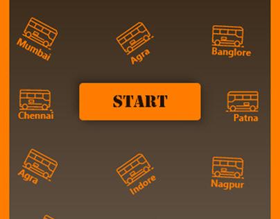Bus Travels Mobile App UI Design