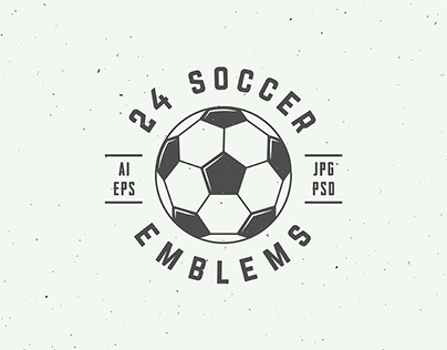 24 Soccer Emblems
