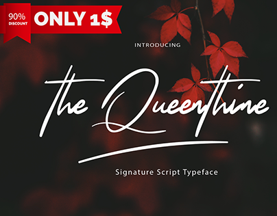 Free | The Queenthine Signature Script Typeface