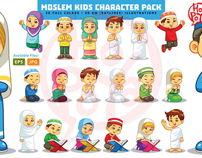 Moslem Kids Character Pack