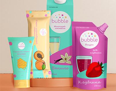 "Разработка упаковки для бренда ""bubble"""