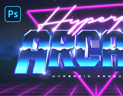 3D 80s Text and Logo Effect Vol.2 PSD Template