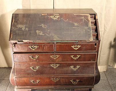 Antique Mahogany Secretaire Restored