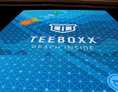 Teeboxx brand identity and environmental design