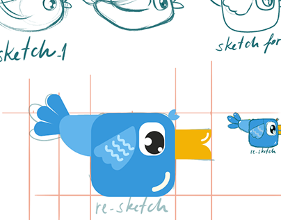 Bird - vector to after effect