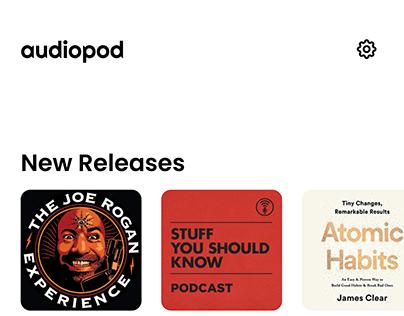 Audiopod - audiobook/podcast app concept