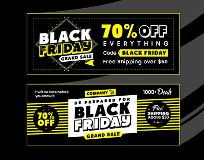 Black Friday Deals 2019 Free Banners in Ai Format