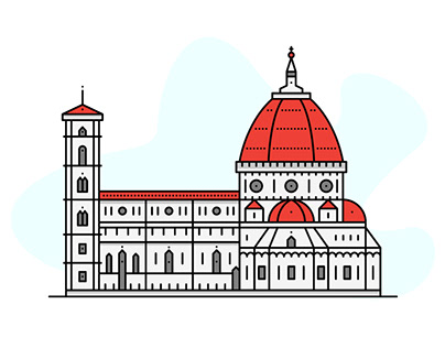 Rome | Florence | Venice line illustrations