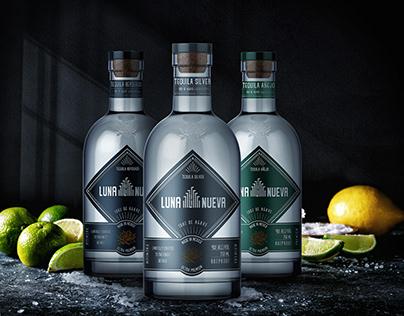 Tequila Luna Nueva Label and Bottle Design