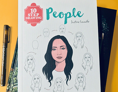 10 Step Drawing: People: Draw 30 people in 10 easy step