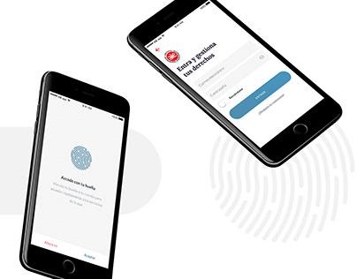 UX/UI extranet app