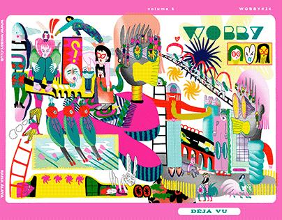 "Cover for Wobby Magazine #24 ""Déjà Vu"""