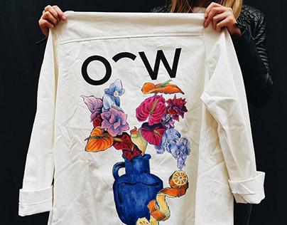 Jacket customised for Oscar Wylee