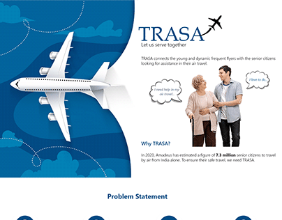 Case study - Help elders to find air travel volunteer