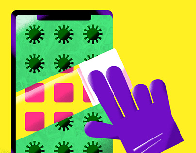 Disinfect your phone poster