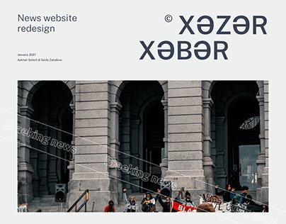 Xezer Xeber | Website Redesign