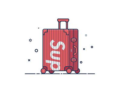 Supreme Item Icon Illustrations Design