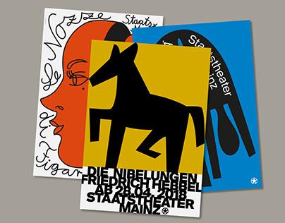 Staatstheater Mainz Posters (2017/18)