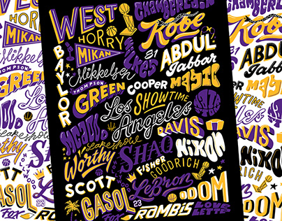 Lakers Legends Poster