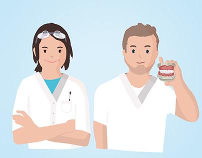 Infozeichnungen für zahnmedizinische Berufe