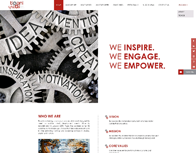 WEBSITE LAYOUT DESIGN - TIQANI
