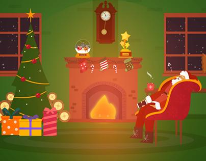 Santa Claus app | motion graphic