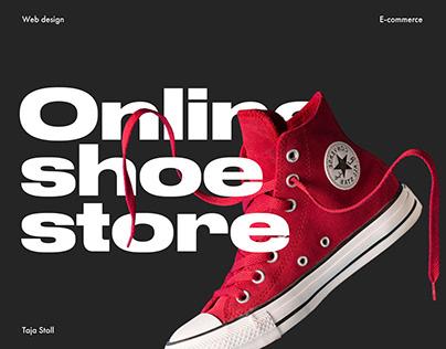 E-commerce Website Converse shoe store