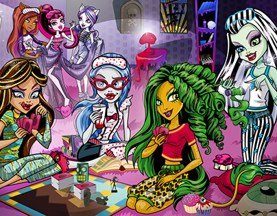 Monster High Dairy Illustrations