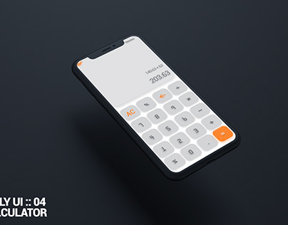Daily UI :: 04 Calculator #DailyUI