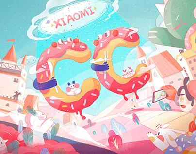Xiaomi CC innocence theme illustration 小米CC纯真主题插画