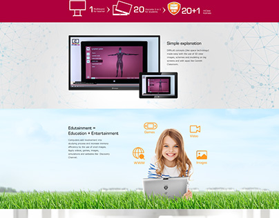 Layout page for Prestigio Computer-assisted education