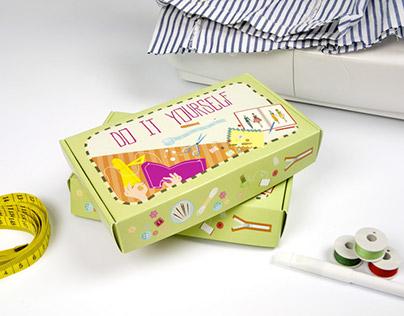 Custom sewing kit: Do It Yourself packagings