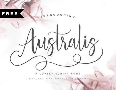 FREE   Australis Script Font