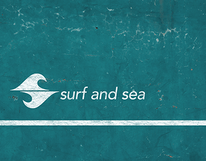 surf and sea Logo Design