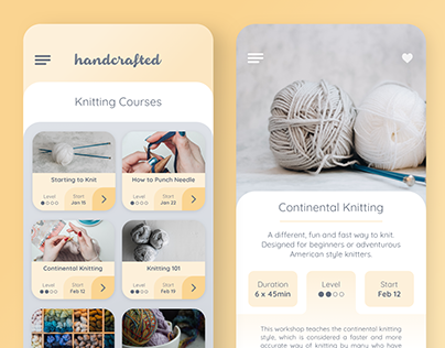 Handcrafted - Craft Course App