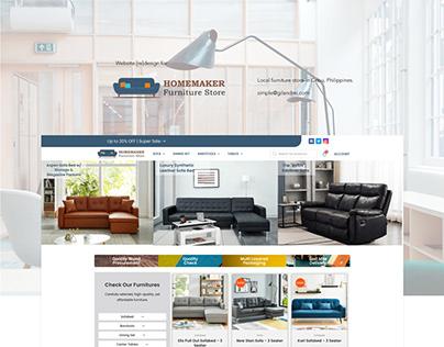 Furniture Store Website Re-design