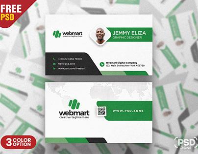 Elegant Minimal Business Card Design PSD