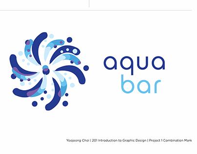 Intro to graphic design project 1. Logo design: AquaBar