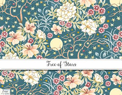 Tree of Stars Textile Design