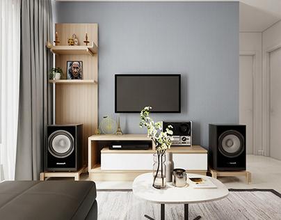 Thiết kế nội thất căn hộ chung cư Scenic Valley 109m2