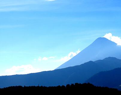 Guatemala's shades of blue.