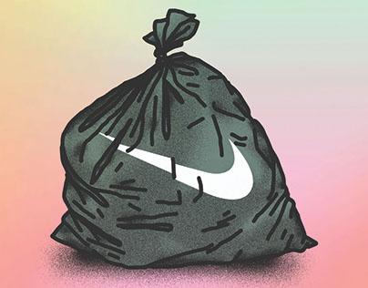 Nike trash bag