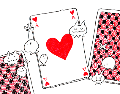 Playing cards and creatures