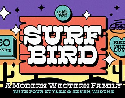 The Surfbird • A Fancy Font Family
