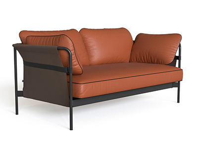 HAY Can 2-3 Seater sofa 3d model