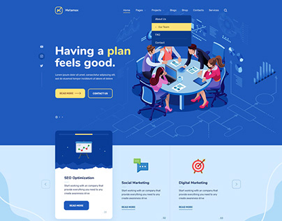 Metamax Seo & Marketing WordPress Theme