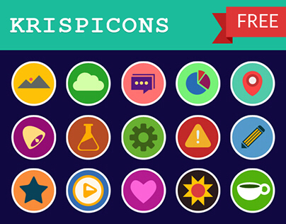 Krispicons- Modern Flat Icons Freebie